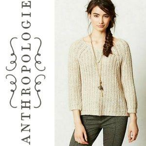 Anthropologie Sequin Sunstitch Sweater